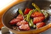 さつま揚げとシシトウの煮物の作り方2