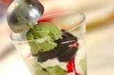 ラズベリーと抹茶のパフェの作り方1