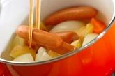玉ネギとソーセージの煮込みの作り方3