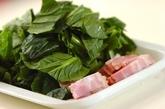小松菜とベーコンのカルボナーラの作り方2