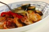 鶏肉と野菜のグリルガーリックソースの作り方4
