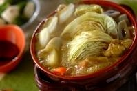 鶏肉のカレー豆乳鍋