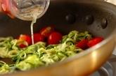 鶏肉とズッキーニのベジパスタの献立の作り方2