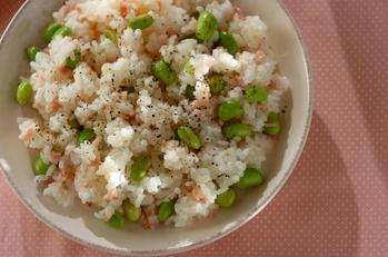 枝豆とベーコンの混ぜご飯