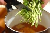 さつま揚げと豆苗のサッと煮の作り方2