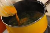いりこだしのニラ玉みそ汁の作り方3