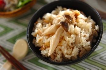 ツナとシメジの炊き込みご飯