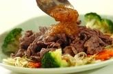 牛肉の炒め物オニオンダレの作り方3