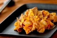 豚キムチと卵の炒め物