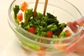 菜の花とトマトのからし和えの作り方2