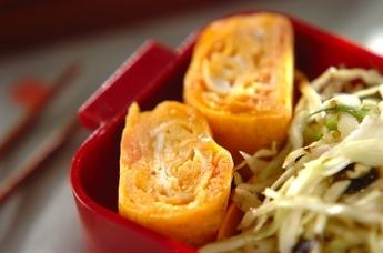 鮭とチーズの卵焼き