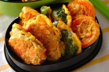 塩鮭と野菜のピカタ