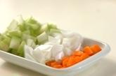 春野菜とチーズのそぼろ丼の作り方1