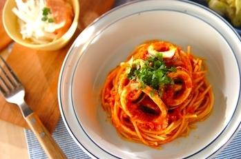 イカのトマトスパゲティー