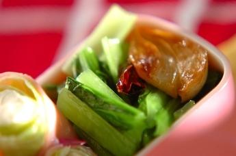 小松菜の塩炒め