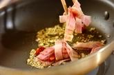 小松菜とベーコンのペペロンチーノの作り方2