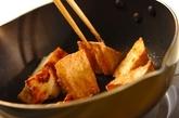 厚揚げと鶏の唐揚げの煮物の作り方2