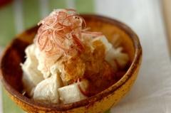 木綿豆腐のミョウガ和え