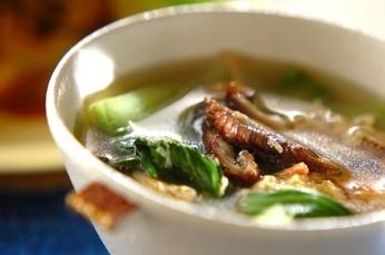 チンゲン菜と卵のエスニックスープ