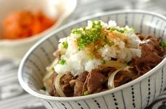 おろし牛丼