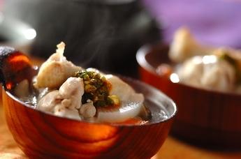 鶏と野菜の韓国風お粥