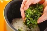 大根の葉ご飯の作り方1