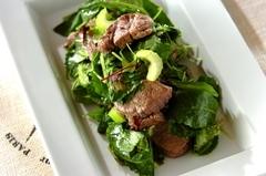 牛ステーキ肉のグリルサラダ~レモン風味~
