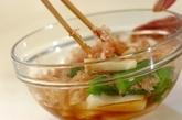 オクラと長芋のおかか和えの作り方2