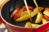 ジャガイモとソーセージ炒めの作り方3