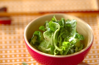 アボカドと香菜のサラダ