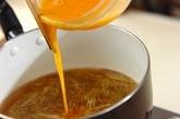 ミョウガと卵のすまし汁の作り方2