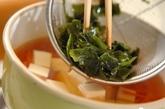 豆腐とワカメの和風スープの作り方2