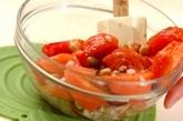 トマトとミックスビーンズのビネガーサラダの作り方1