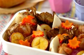 チキンと秋野菜のオーブン焼き