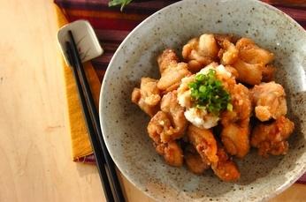 鶏の竜田揚げおろしポン酢がけ
