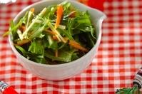 水菜とニンジンのサラダ