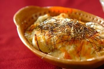 ユリネと豆腐のグラタン