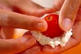 プチトマトの豚肉チーズ揚げの作り方2