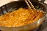 ツナと玉ネギの卵焼きの作り方2