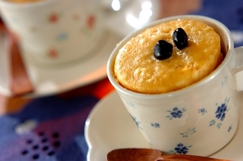 マグカップ米粉ケーキ
