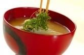 長芋とズッキーニのみそ汁の作り方2