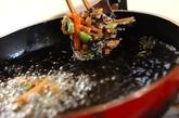 納豆とひじきのかき揚げの作り方3