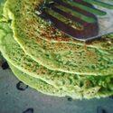 青汁ミックスのホットケーキとラべンダーコーヒー
