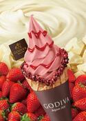 ゴディバ、ソフトクリームに新フレーバーストロベリー&ダークチョコレートのショコリキサー登場