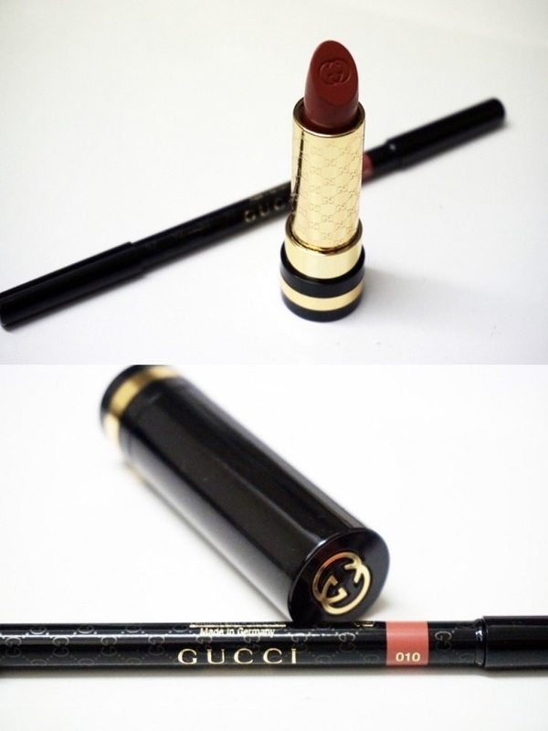 『GUCCI Moisture Rich Lipstick』、『GUCCI Contouring Lip Pencil』