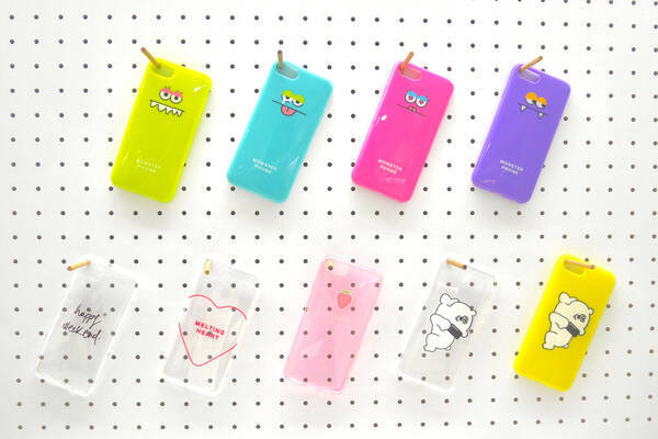iPhone6/6S/7ケース(weekend・いちご・ハート・MONSTER・クマ)各¥100