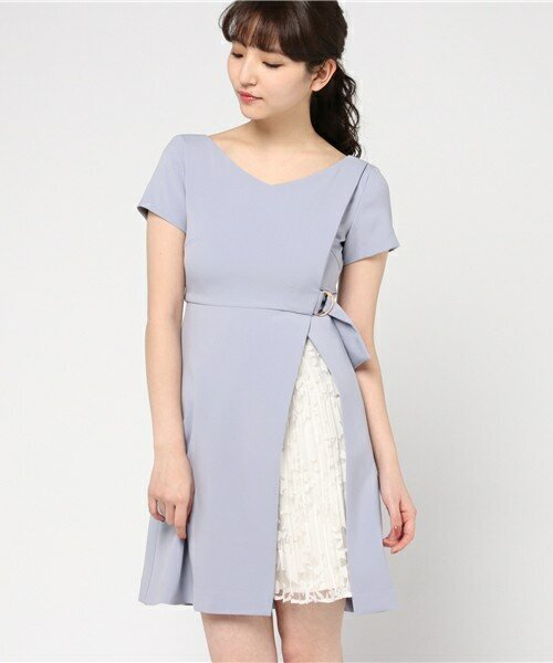 WARAP PLEATS DRESS