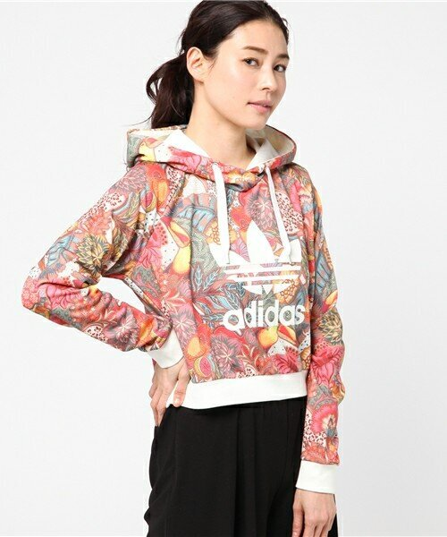 【adidas Originals by The Farm Company】 パーカー[FUGIPRABALI CROP HOODIE]