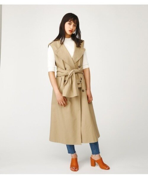 NO COLLAR TRENCH TIE VEST