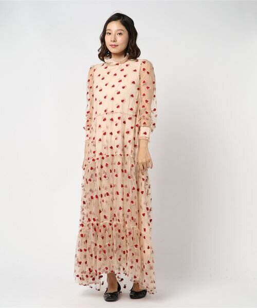 sister jane / Sheer Rose Maxi Dress